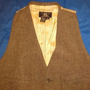 RRL Ralph Lauren Tweed Herringbone Vest Men's M. L